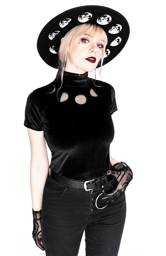 Black Velvet MOON PHASES Top Moon Witch