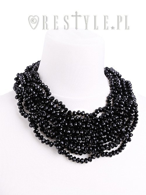 "Black beaded necklace, gothic choker, spiderweb ""LAURA CHOKER"""
