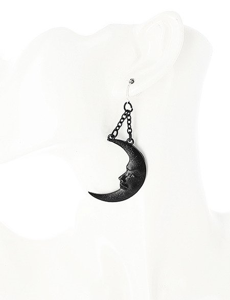 MOON & SUN BLACK EARRINGS