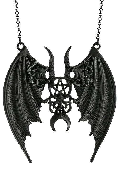 Black gothic Maleficent Pendant bat wings