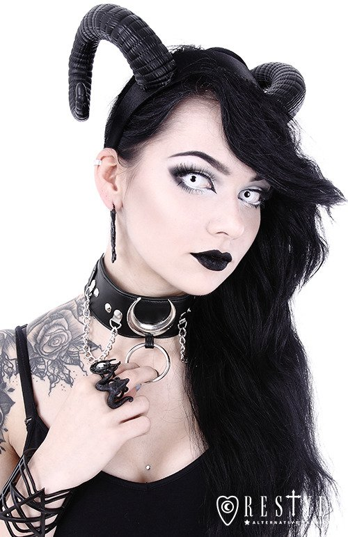 "Black gothic Moon Choker ""IRON MOON COLLAR"""