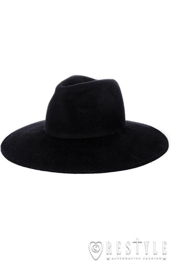Black gothic Wide brim hat 173a5bfc017