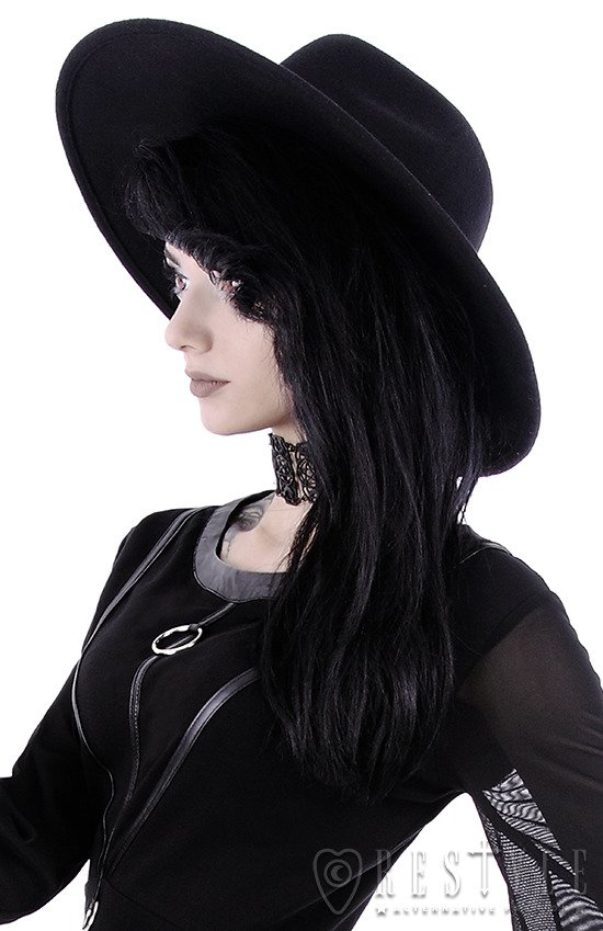 Black gothic Wide brim hat 57fcc1fc3c9
