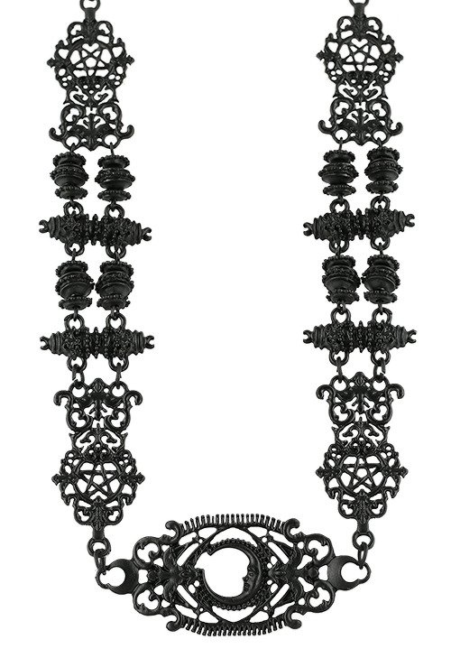 Black gothic baroque Fortune Teller Black Necklace