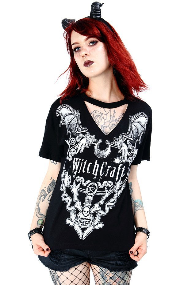 Black gothic choker top Witchcraft