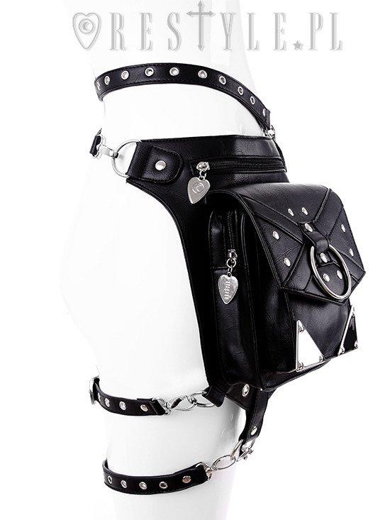 Belt bag John pattern rotblack belly pocket hip pocket