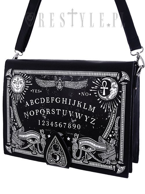 "Black gothic, occult handbag, spirit board, planchette ""OUIJA BOARD BAG"""