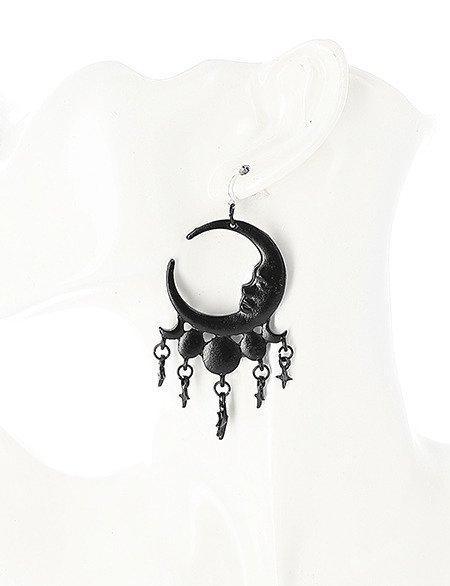 SLEEPLESS NIGHTS BLACK EARRINGS