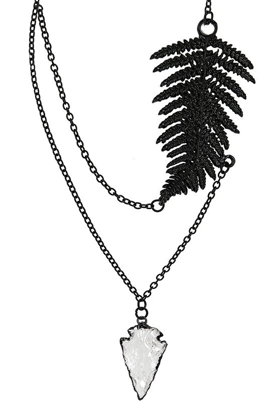 FERN BLACK NECKLACE