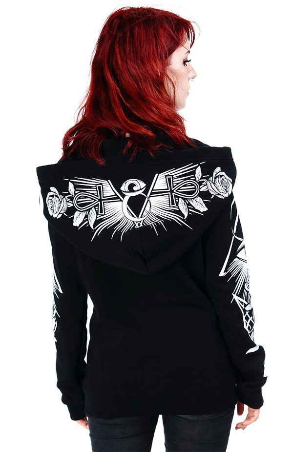 Black women`s Hoodie Third Eye