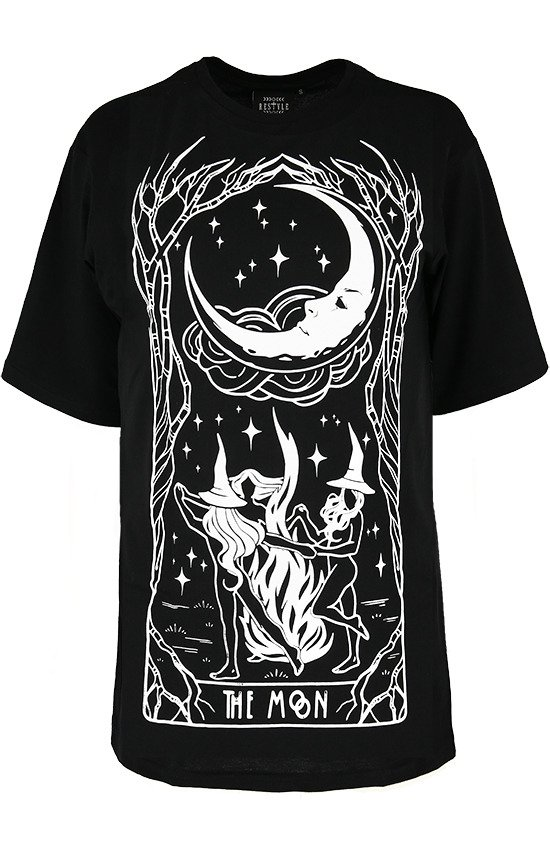 Black women`s t-shirt oversized WITCHES CHANT