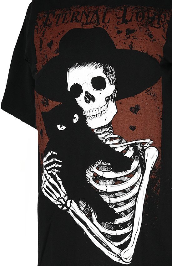 Black women oversize t-shirt skeleton ETERNAL LOVE
