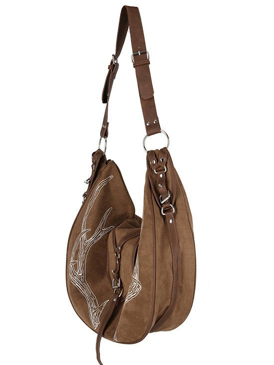 Brown Antlers Hobo bag Pagan Witch Style