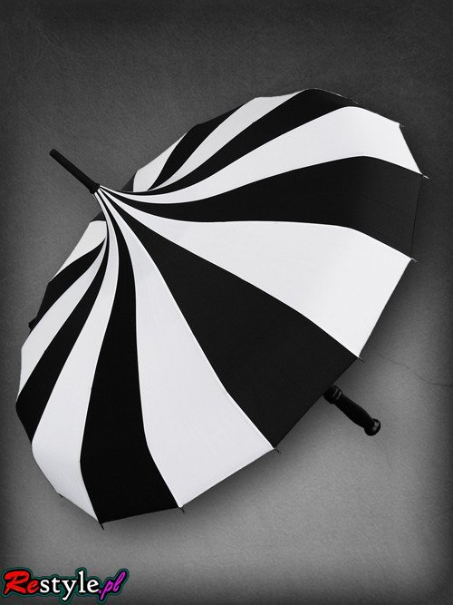 """CABARET"" Waterproof gothic STRIPES umbrella, parasol"