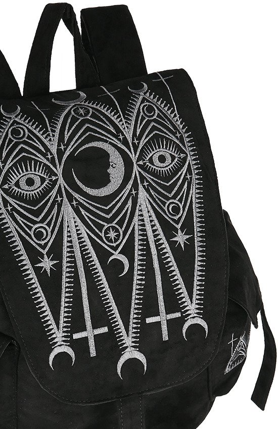 CATHEDRAL BACKPACK, gothic black woman school backpack