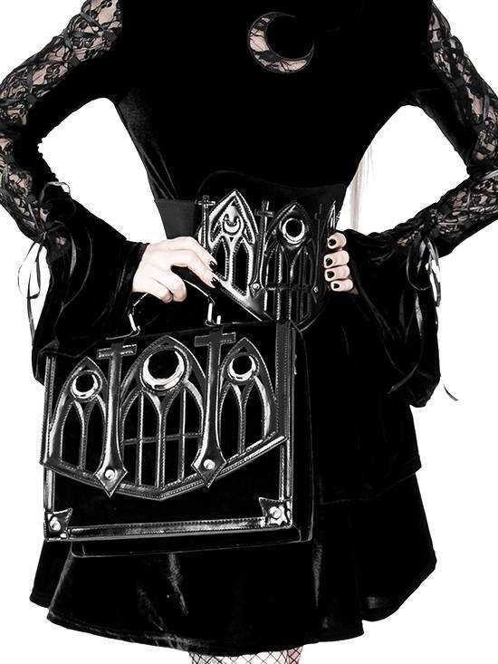 Cathedral Waist Belt with triple moon