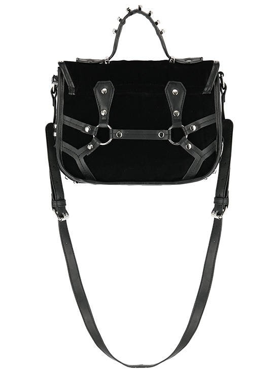 Coffin Purse Gothic Bag with a harness