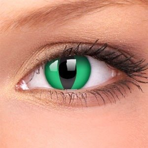 Colourvue ANACONDA green cat decorative contact lenses ANNUAL