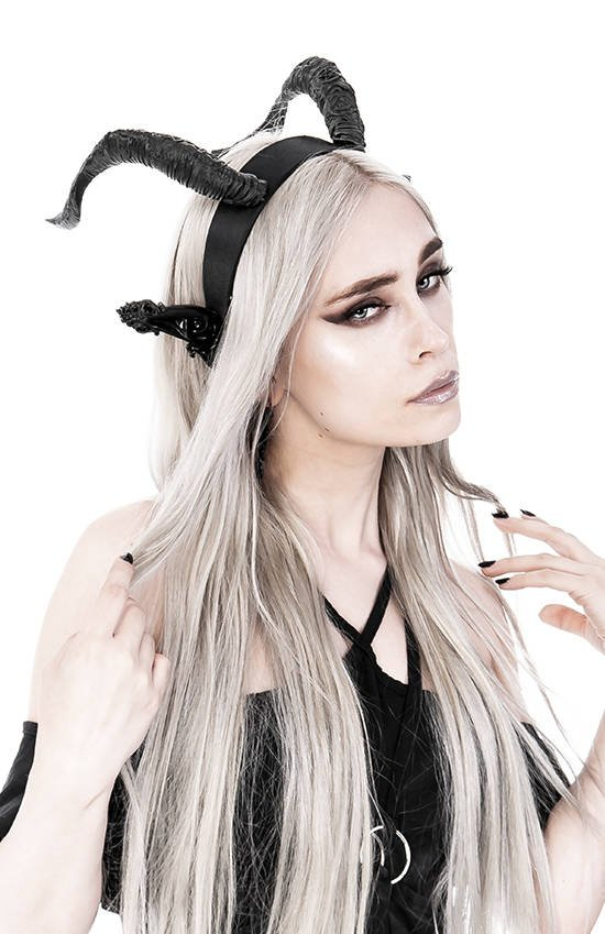 DARK ELF Gothic Headpiece with horns and ears