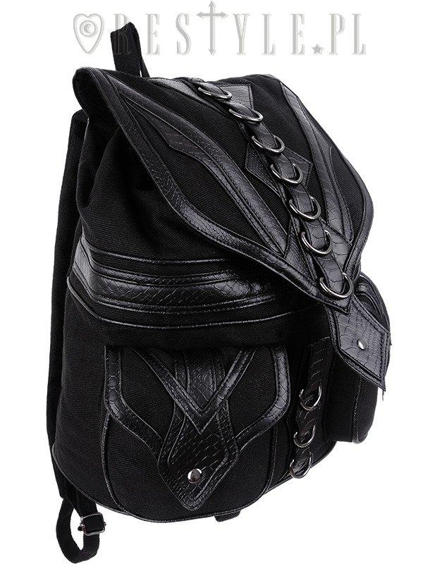 Black School bag with pockets, 90s backpack