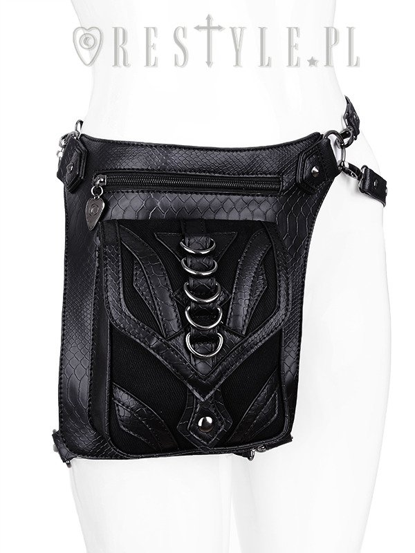 """DRAGON HOLSTER BAG"" with pockets, hip bag, pocket belt, steampunk utility belt"