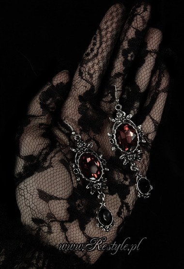 "Evening earrings gothic romantic jewellery ""WILD ROSES"""