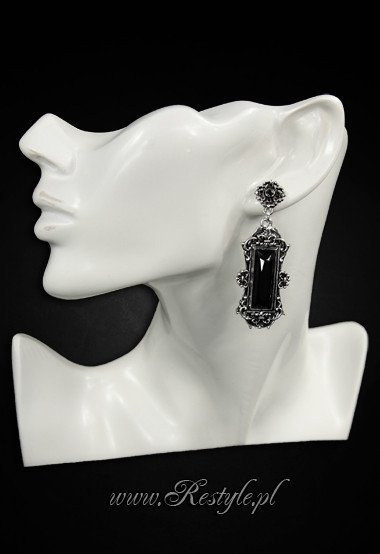 "Evening, victorian earrings ""VIVIAN BLACK"" gothic romantic jewellery"