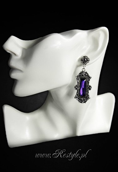 "Evening, victorian earrings ""VIVIAN VIOLET"" gothic romantic jewellery"