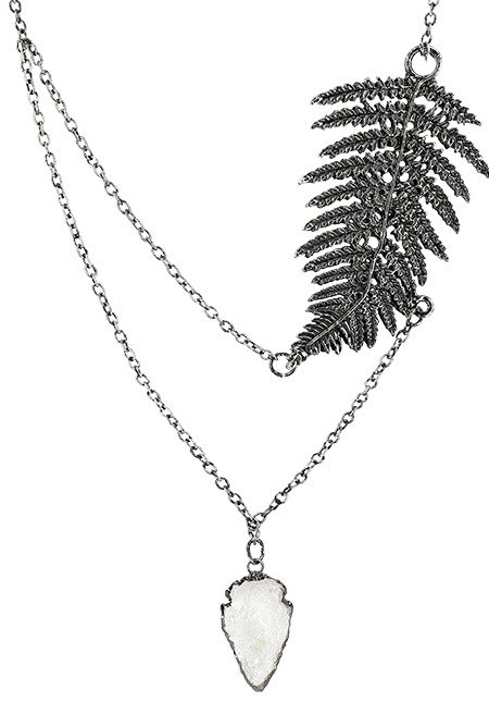FERN SILVER NECKLACE