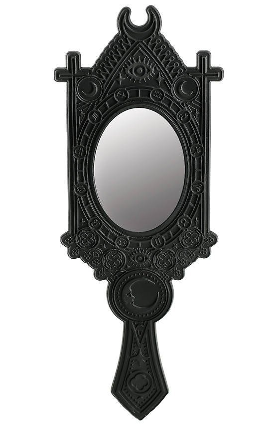 Fortune Teller Mirror with Crescent and zodiac signs