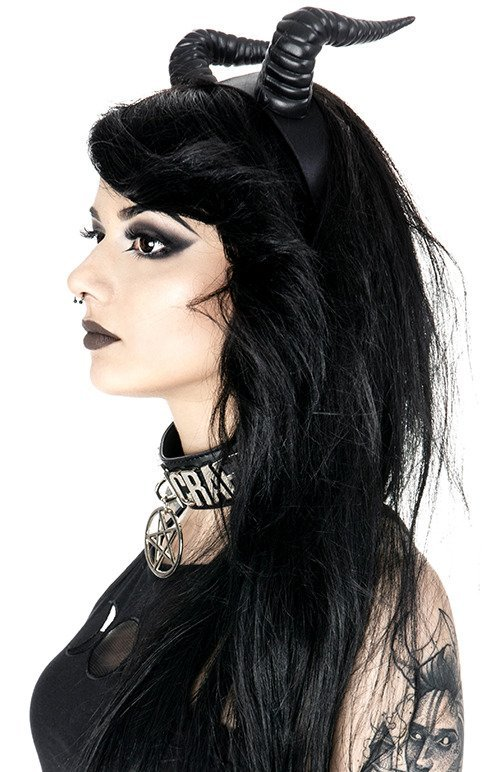 Gothic Headpiece BELETH HORNS Devil horns