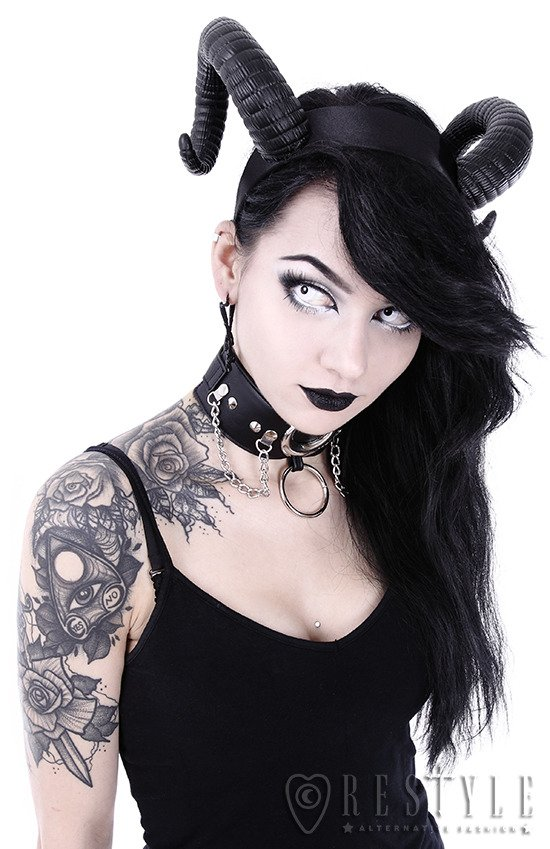 Gothic Headpiece, satan horns SINISTER HEADBAND