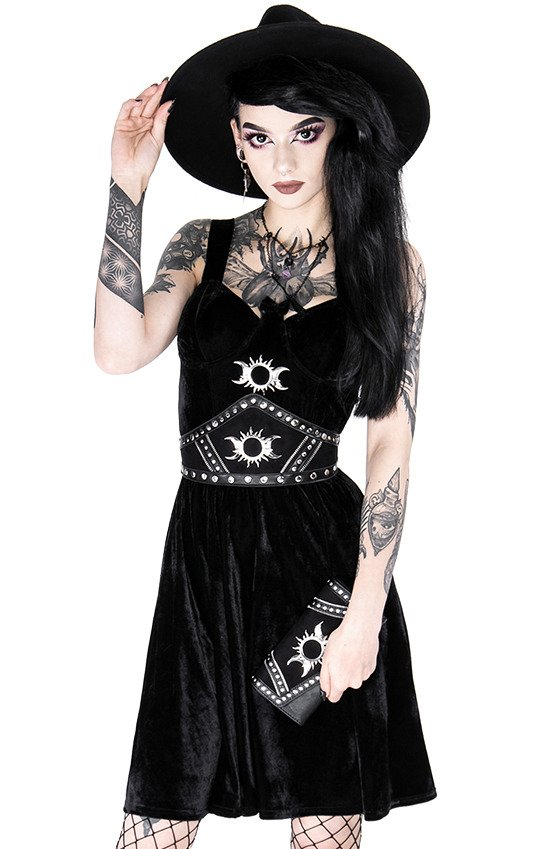 Gothic accessory TRIPLE GODDESS WAIST BELT