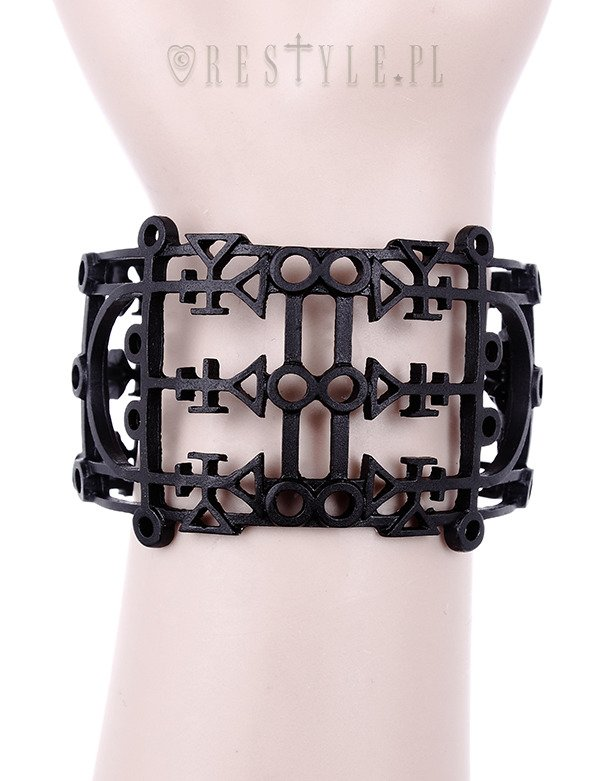 "Gothic bangle, Occult Cuff, Death & Luxury ""DEMON SIGIL BRACELET"""