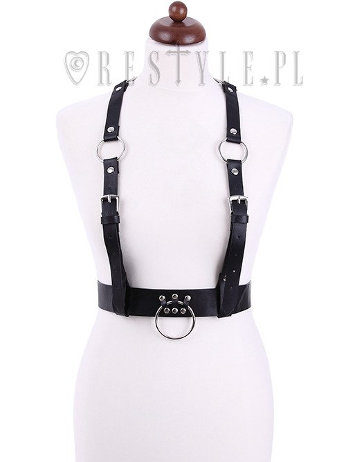 "Gothic belt, O-rings ""GEOMETRY HARNESS BELT"""