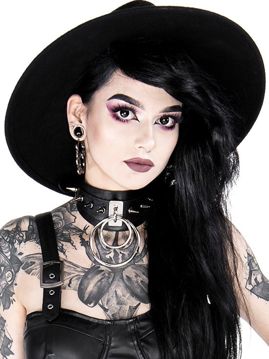 Gothic choker DOUBLE SPIKED CHOKER