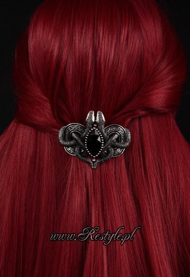 "Gothic hairclip celtic hair barrette ""SNAKES OF AVALON"""