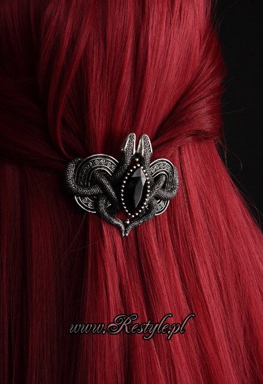 A Beautiful Black Faceted Barrette Hair Clip