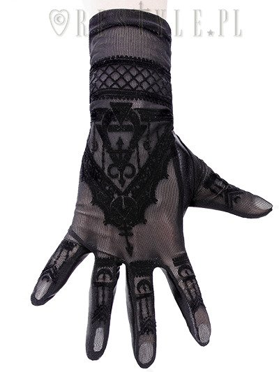 "Gothic mesh gloves mehndi pattern, alchemical symbols ""Henna Gloves"""