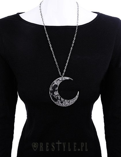 "Huge Crescent, occult jewellery, luna ""MOON TEXTURED PENDANT"""