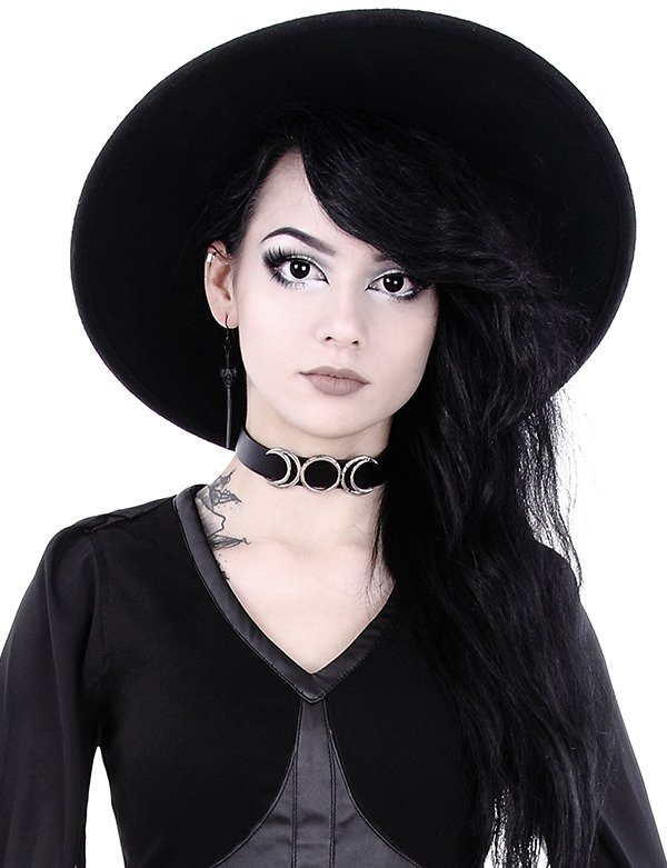 """TRIPLE GODDESS COLLAR"" Moon Choker"