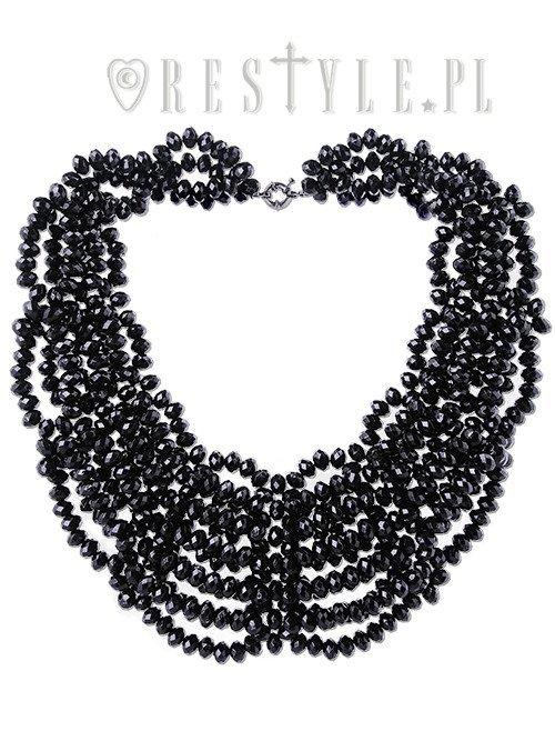 """LAURA CHOKER"" Black beadec necklace, gothic choker, spiderweb"