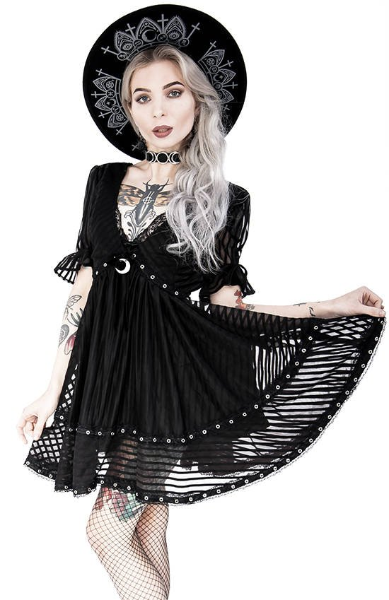Lace Mesh Dolly Dress A-line skirt Crescent Charm