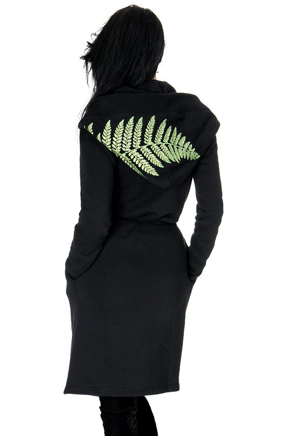 "Long, gothic Fern Hoodie with oversized hood ""FOREST WITCH"""