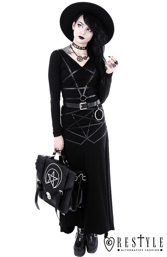 "Long gothic skirt ""PENTAGRAM MAXI SKIRT"""