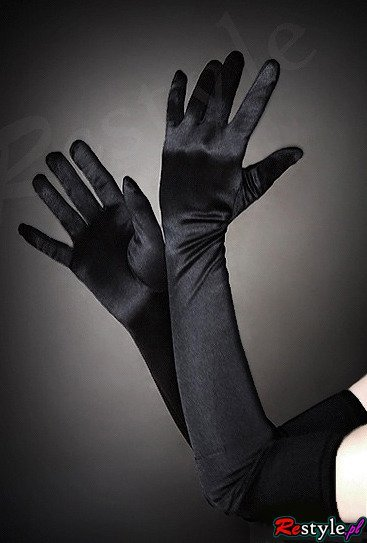 Long satin evening opera gloves