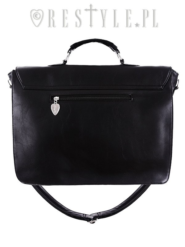 "gothic black briefcase ""MOON CYCLE SATCHEL"""