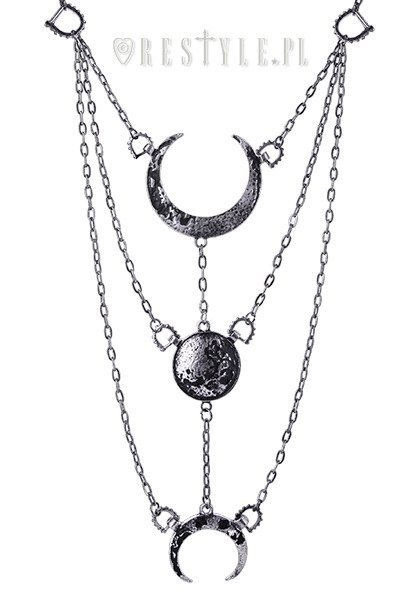 Moon phases silver necklace long crescent pendant occult moon phases silver necklace long crescent pendant occult jewellery luna mozeypictures Images
