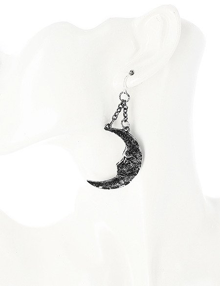 MOON & SUN SILVER EARRINGS