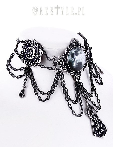 "Moon collar, Full moon, moon phases, crescent ""MOON GEOMETRY CHOKER"""